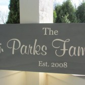Personalized sign with family name, established date and tree - custom family wood sign in colors of your choice
