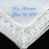 Embroidered Bridal Handkerchief