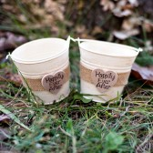 Set of 2 Shabby Flower Girl Pails