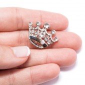 PRINCESS CROWN DIAMANTE BUCKLE SLIDER 325
