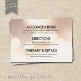 Hipster Bokeh Effect- Printable Wedding Info Cards
