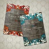 Rustic Bridal Shower vintage Lace Invitation - Choose your colors