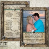 Rustic Wood Frame Wedding Program