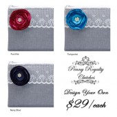 Grey Clutch Envelopes- Design Your Own