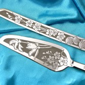 Palm Tree Wedding Cake Server and Knife Set, beach destination wedding