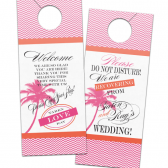 Palm Tree Wedding Door Hanger