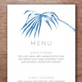 Palma Printable Wedding Menu