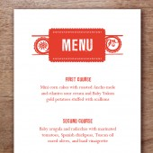 Papelo Printable Wedding Menu