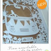 Contemporary framed paper cut artwork, keepsake gift, engagement, wedding, anniversary, gift, unique, camper van