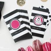 Parisian Stripe Pink Black and White Shower Scratch-Off Game