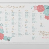 Rustic Whimsical Floral Wedding Seating Chart
