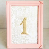 Peach Table Number