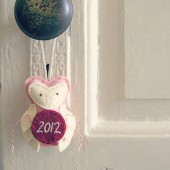 Commemorative Felt Owl Ornament