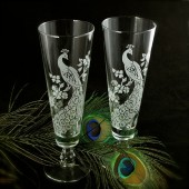 Peacock Toasting Glasses