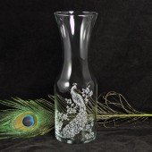 Peacock Wine carafe, peacock wedding