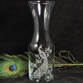 Peacock Wedding Wine Carafe, Vase