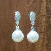 Carrie Pearl Bridal Earrings