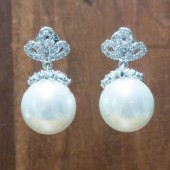 Ella Pearl Bridal Earrings