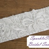 SparkleSM Bridal Sashes - Whitney