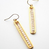 Pearl Bar Earrings