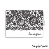 Black Lace Personalized Stationery