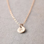 Personalized Mini Initial Gold Tag Necklace