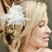 Ivory Feather and Crin Wedding Fascinator