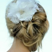 White Flower Wedding Hair Accessory