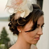 One of a Kind Ivory, Cream and Light Peach/Salmon Fascinator