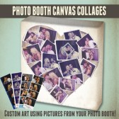 Photo booth Collage Canvas