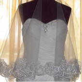 60 Inches Lace Drop Wedding Veil