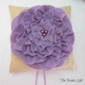 Lavender Wedding Ring Bearer Pillow