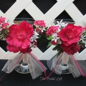 Hot Pink Fuchsia Wedding Toasting Glasses