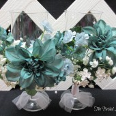 Teal Toasting Glasses