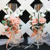 Coral Peach Toasting Glasses