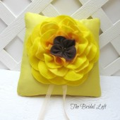 Sunflower Wedding Ring Bearer Pillow