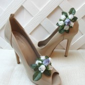 Lavender Rose Flower Shoe Clips