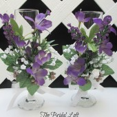 Purple Wedding Toasting Glasses