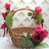 Pink Tulip Card Basket