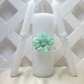 Mint Green Wedding Unity Candle Set
