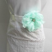 Mint Green Chiffon Dress Sash