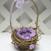 Gold and Lavender Wedding Ring Basket