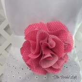 Hot Pink Polka Dot Dress Sash