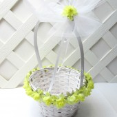 Yellow Rose Flower Girl Basket