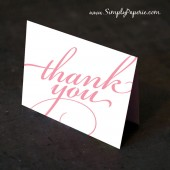 Francy Script Thank You Cards
