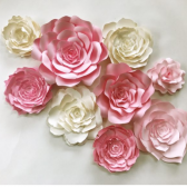 paper flower wall nursery, home decor, wedding