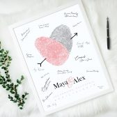 Custom Guest Book Alternative Made with Your Fingerprints