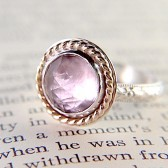 Pink Amethyst Cocktail/Engagement Ring