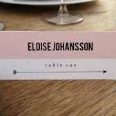 Escort Card Template - Pink Block