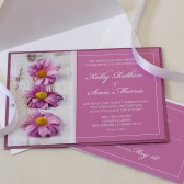 Pink Daisy Wedding Invitation